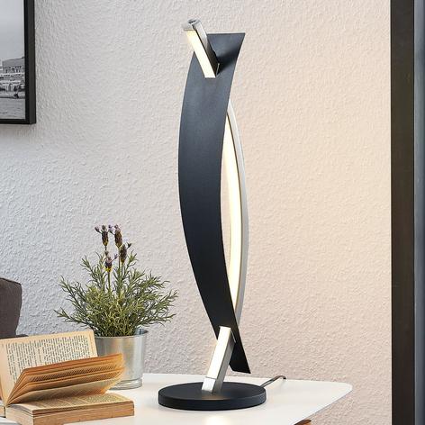 Lampe de table LED Marija en noir