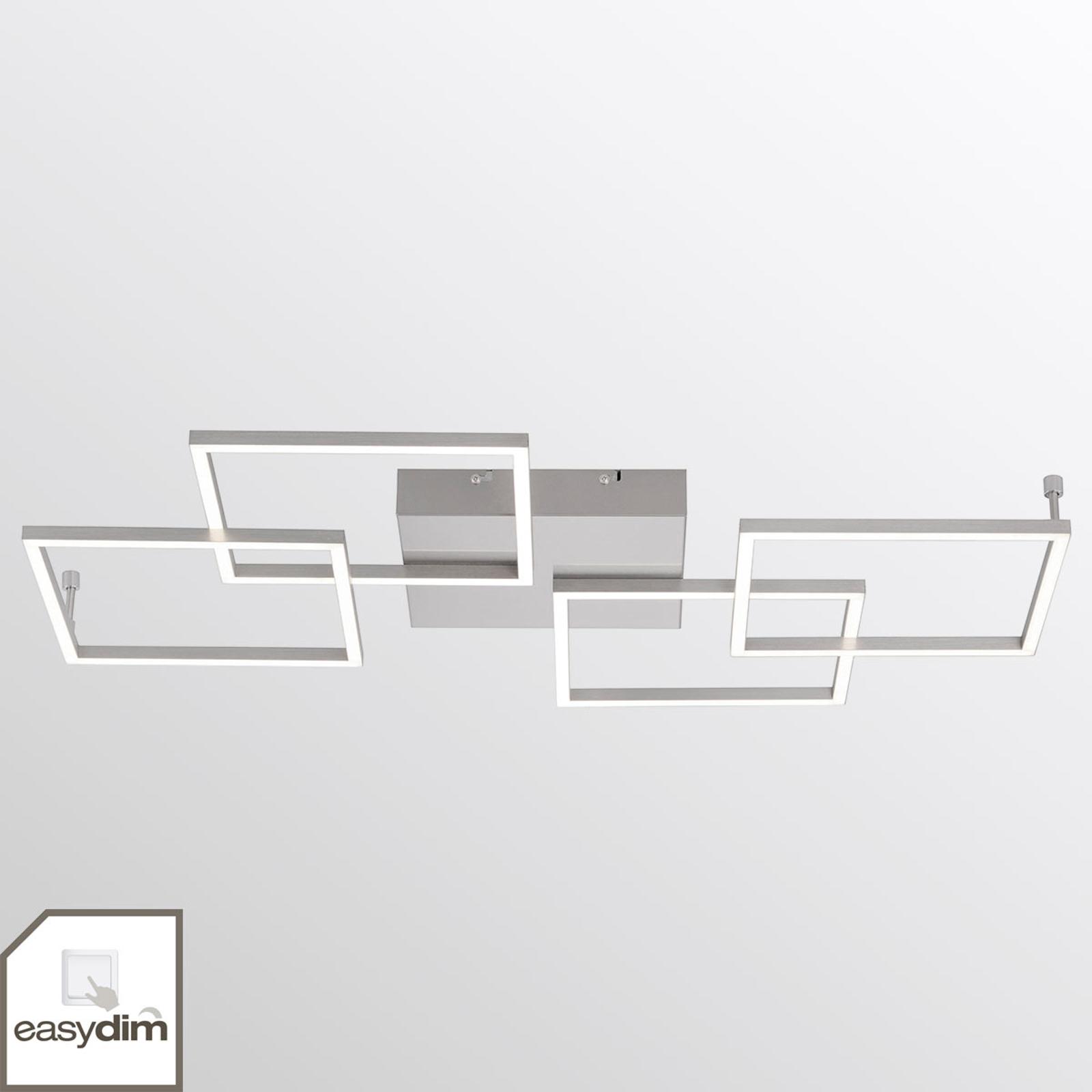 4-punktowa lampa sufitowa LED Inigo – podłużna