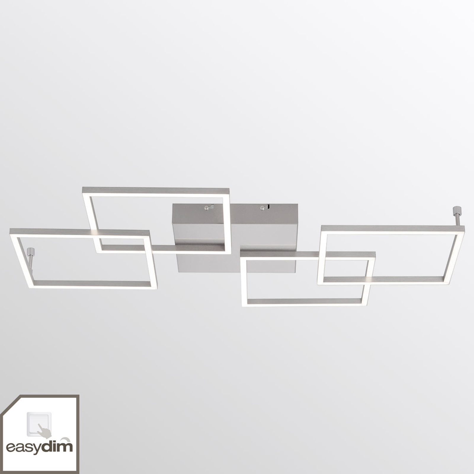 Plafonnier LED à quatre lampes Inigo - allongé