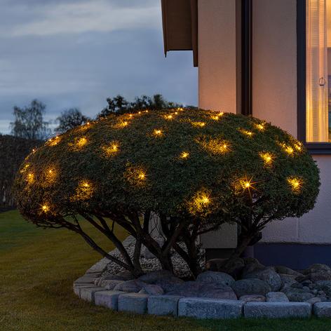 Red luces LED exterior, 64 luces 200x200cm