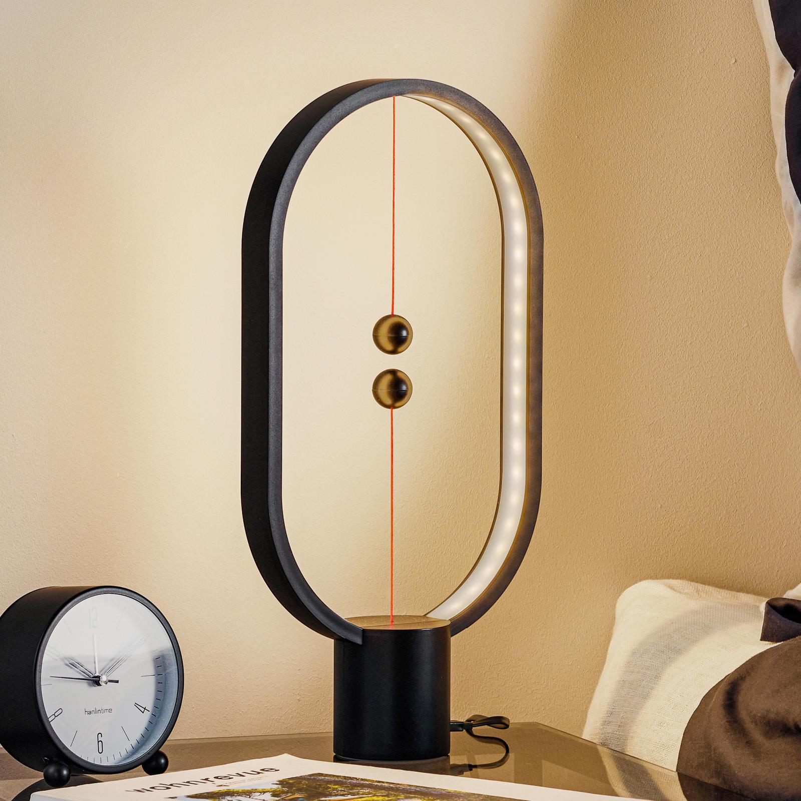 SEGULA Heng Balance LED-Tischleuchte, schwarz