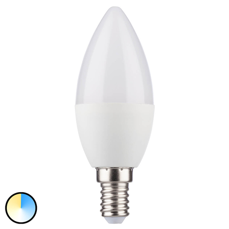 E14 5,5W LED-mignonpære med 3 lysfarger