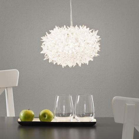 Transparent designer LED hængelampe Bloom, 28 cm