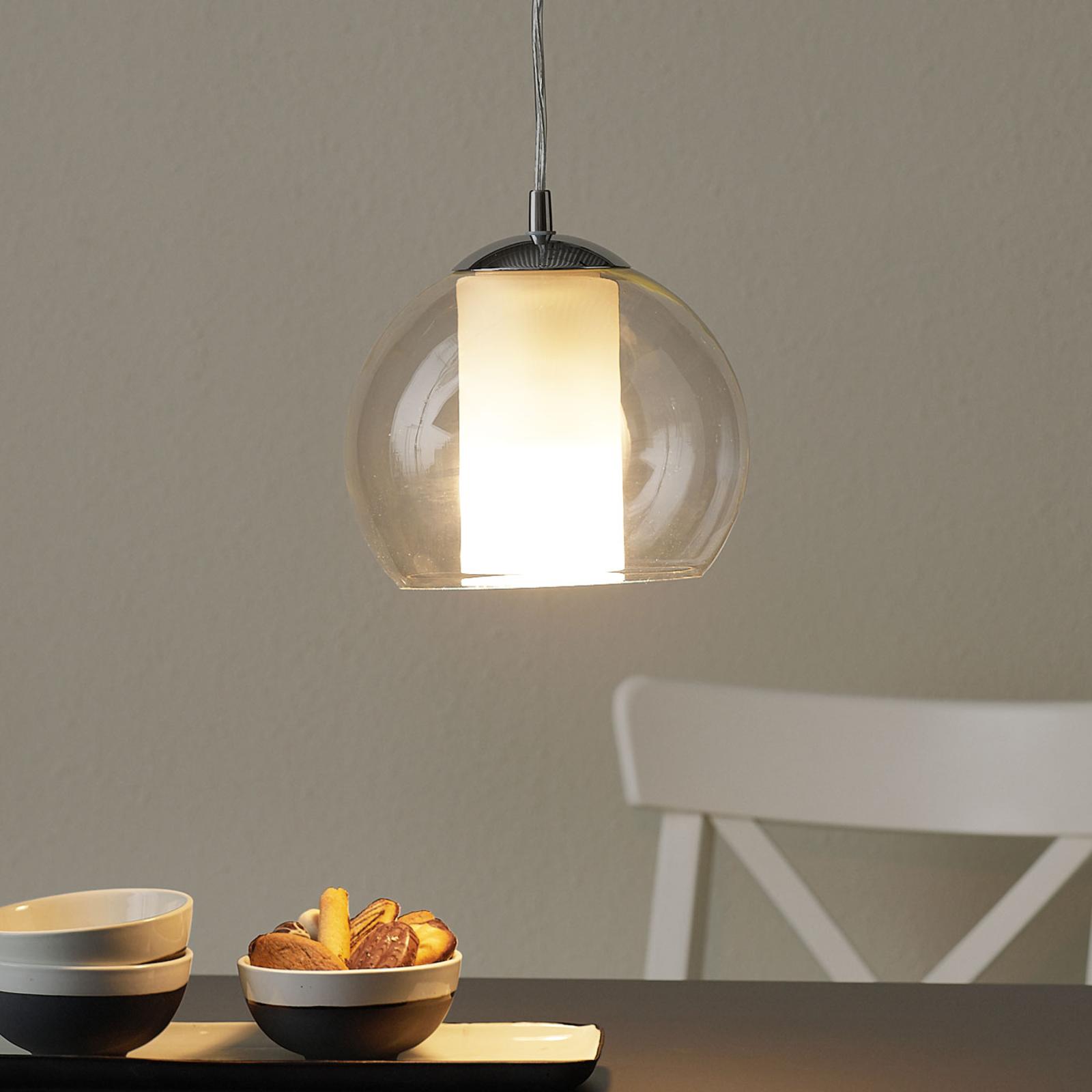Elegante lámpara colgante de vidrio Bolsano