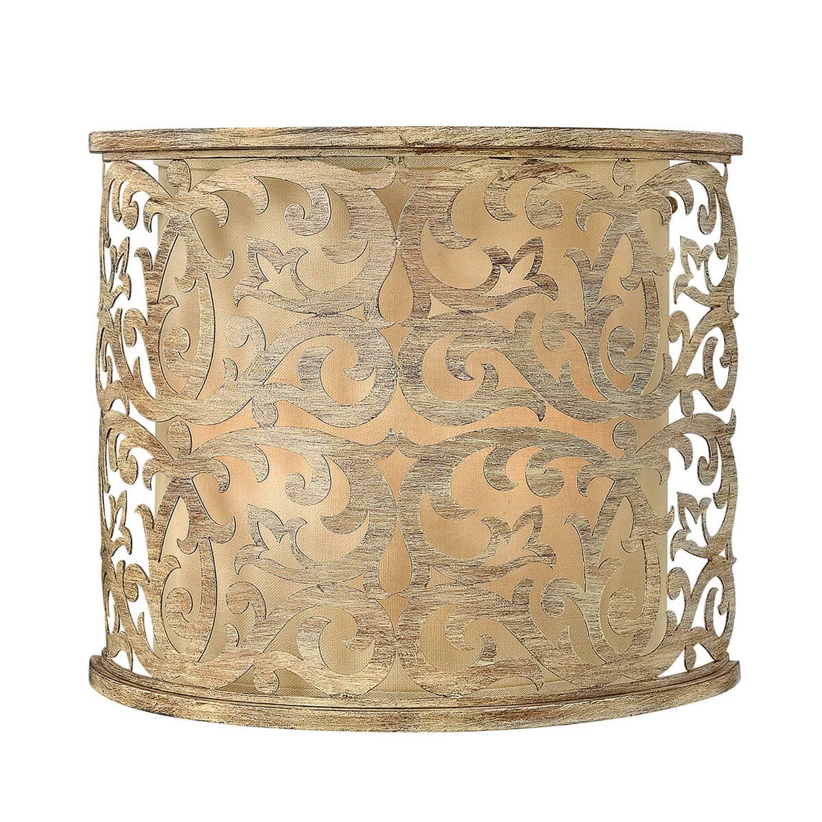 Champagnekleurige wandlamp Carabel