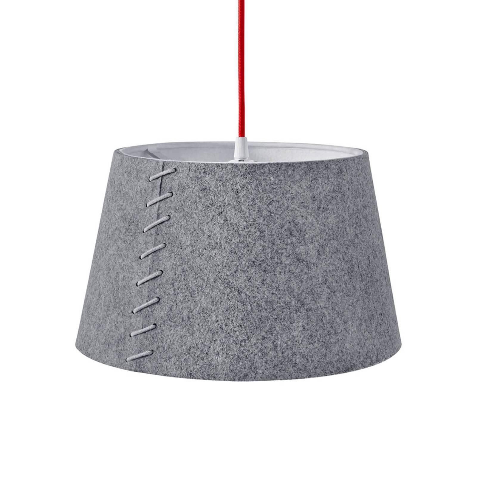 En feutre gris - suspension LED Alice, 30cm