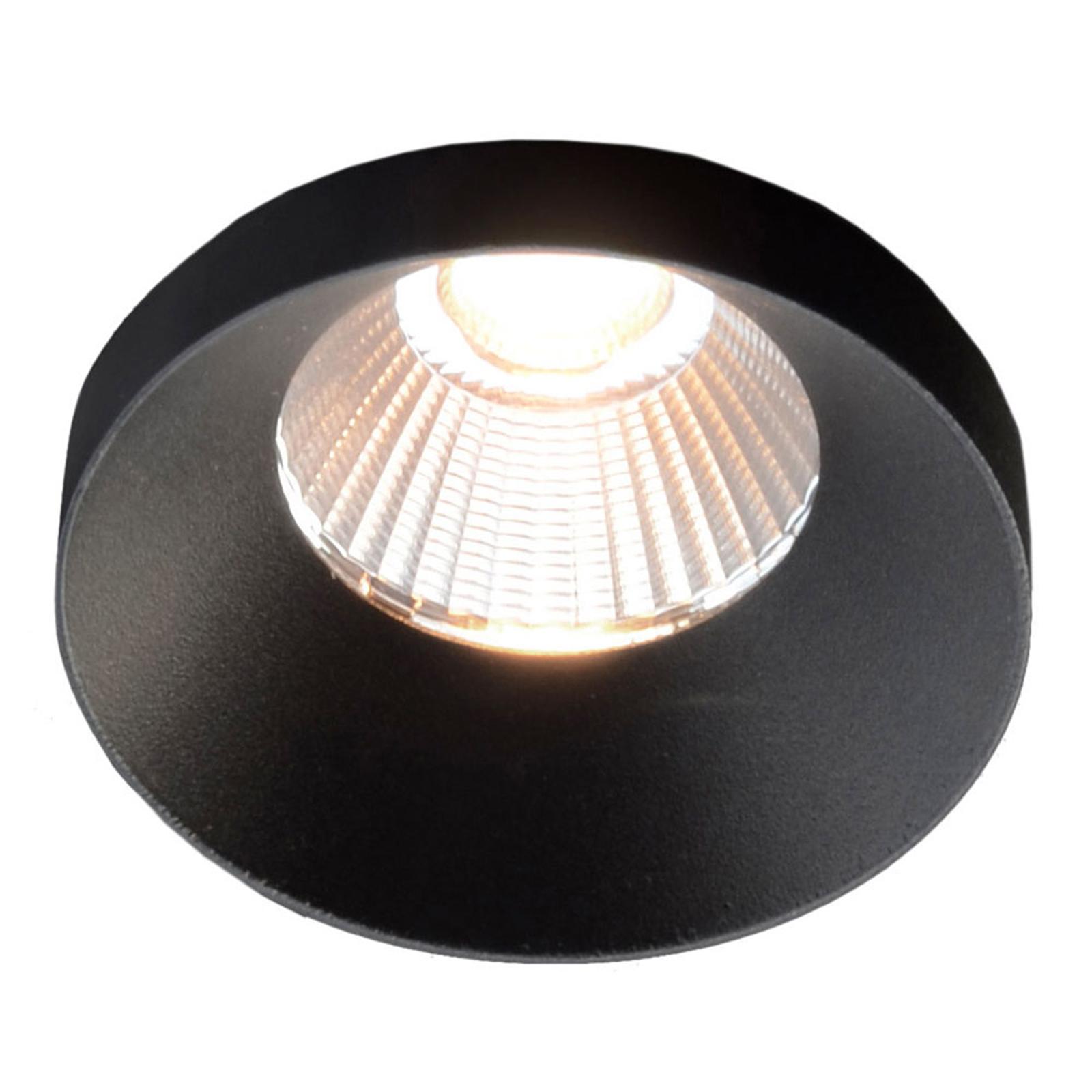 GF design Owi Einbaulampe IP54 schwarz 2.700 K