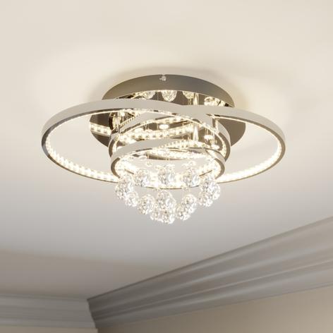 Lucande Keely -LED-kattovalaisin, kristalli