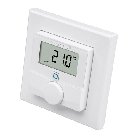 Homematic IP thermostat mural, capteur d'humidité