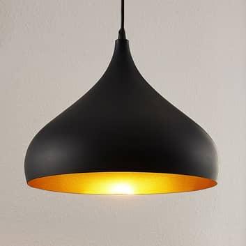 Hliníková závěsná lampa Ritana, černo-zlatá