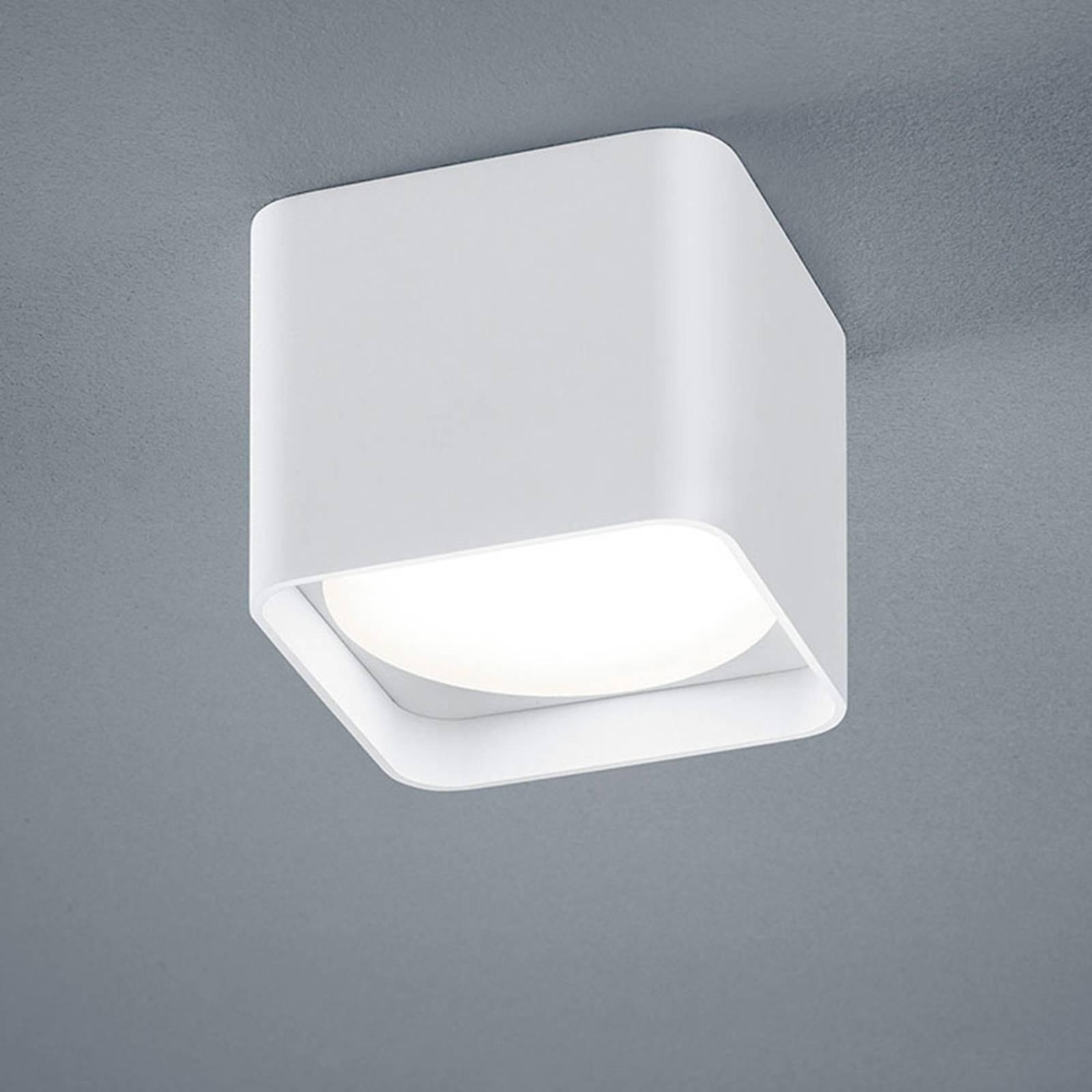Helestra Dora LED plafondlamp hoekig, wit mat