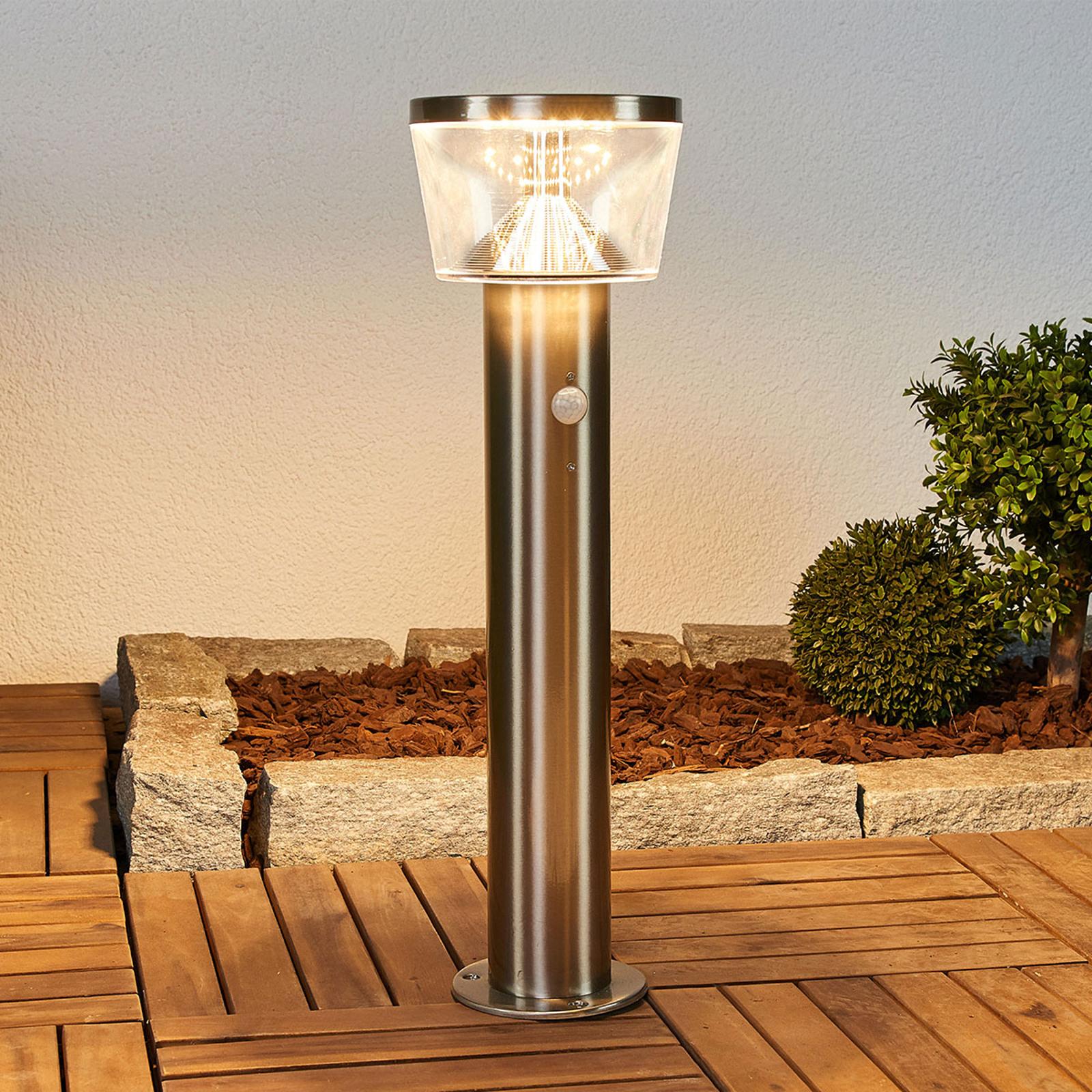 LED-sokkellampe solcelle Antje, bevegelsessensor