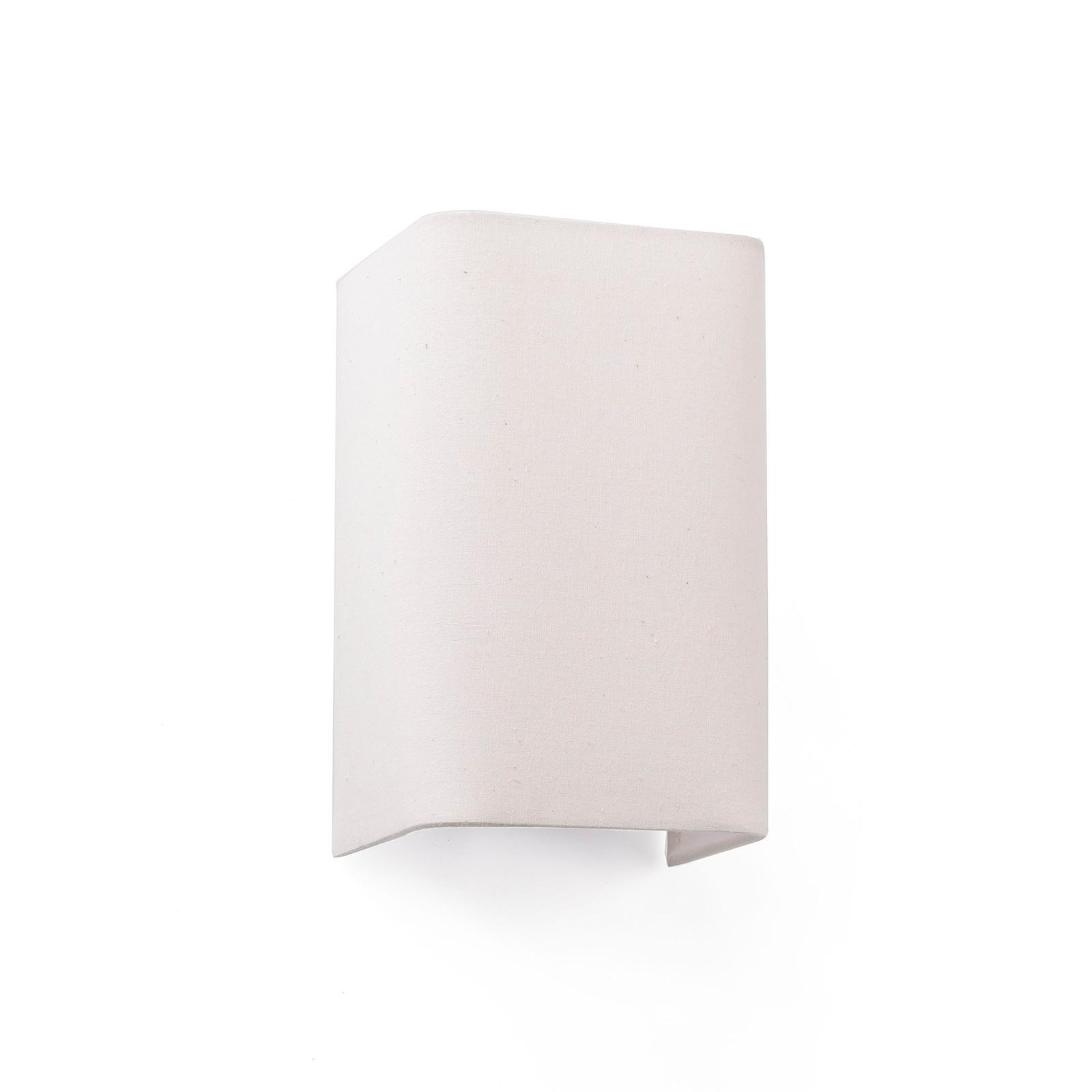 Wandlamp Cotton, hoekig, 20 x 12 cm, beige