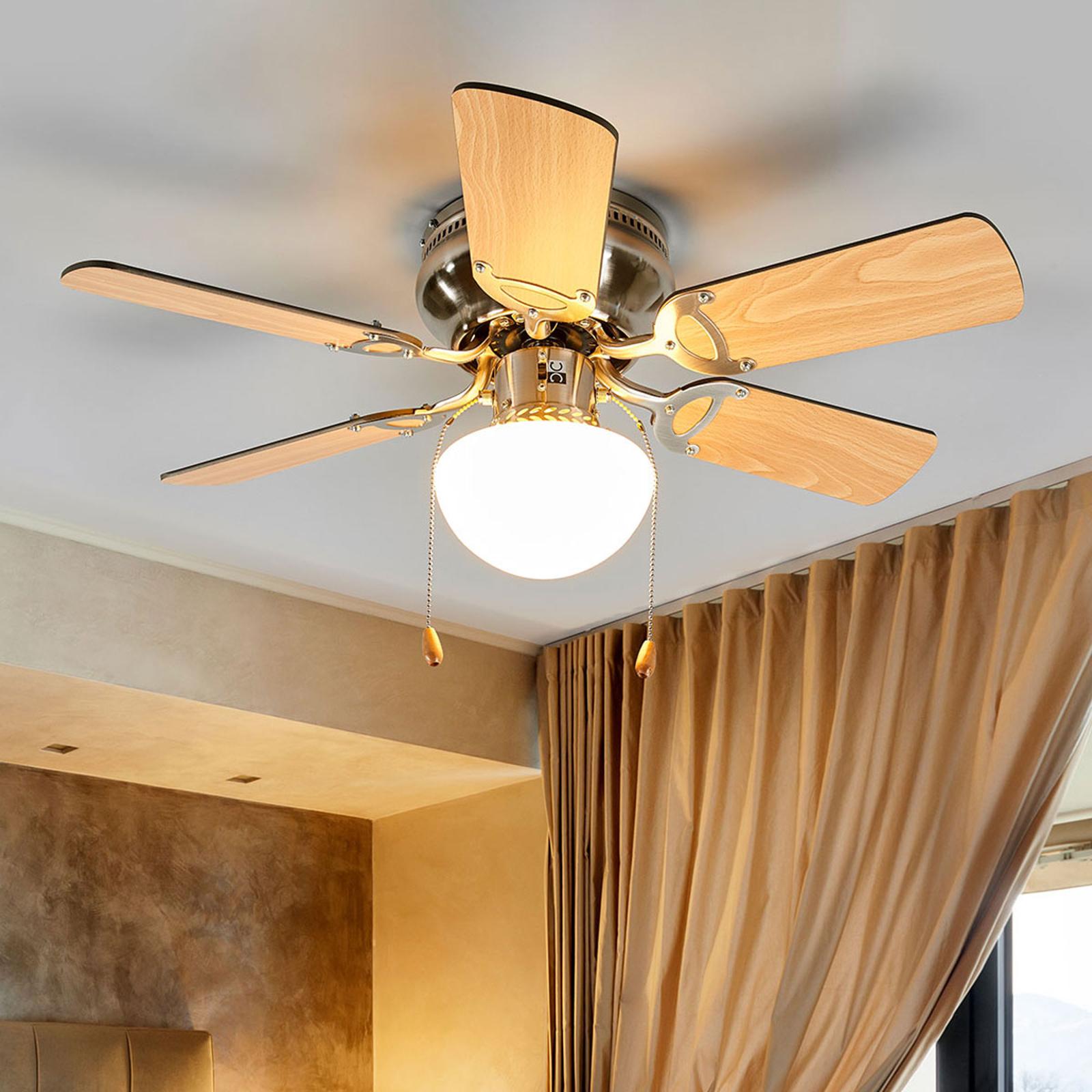 Ventilatore da soffitto a sei pale Flavio con luce