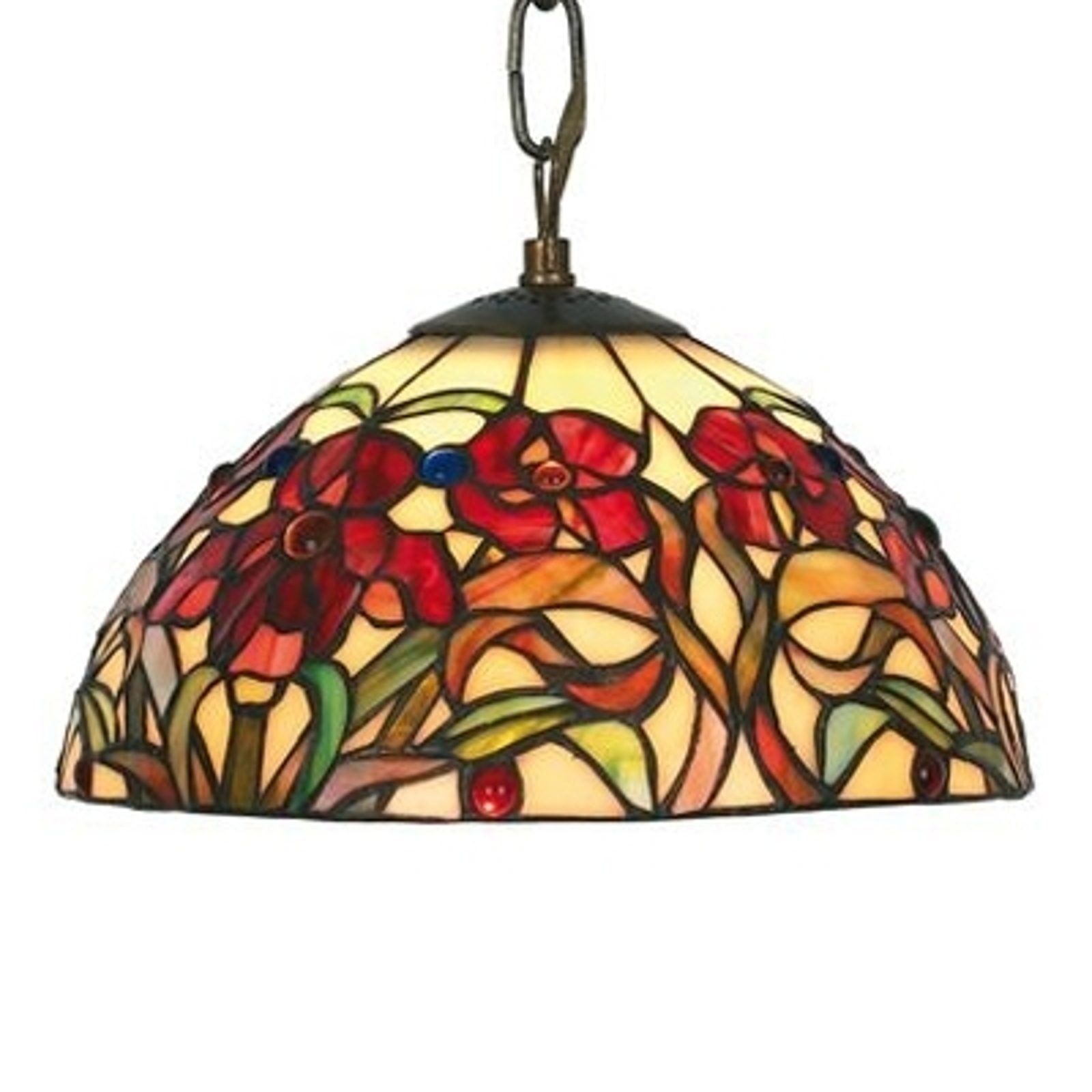 Kleine hanglamp Eline in Tiffany-stijl