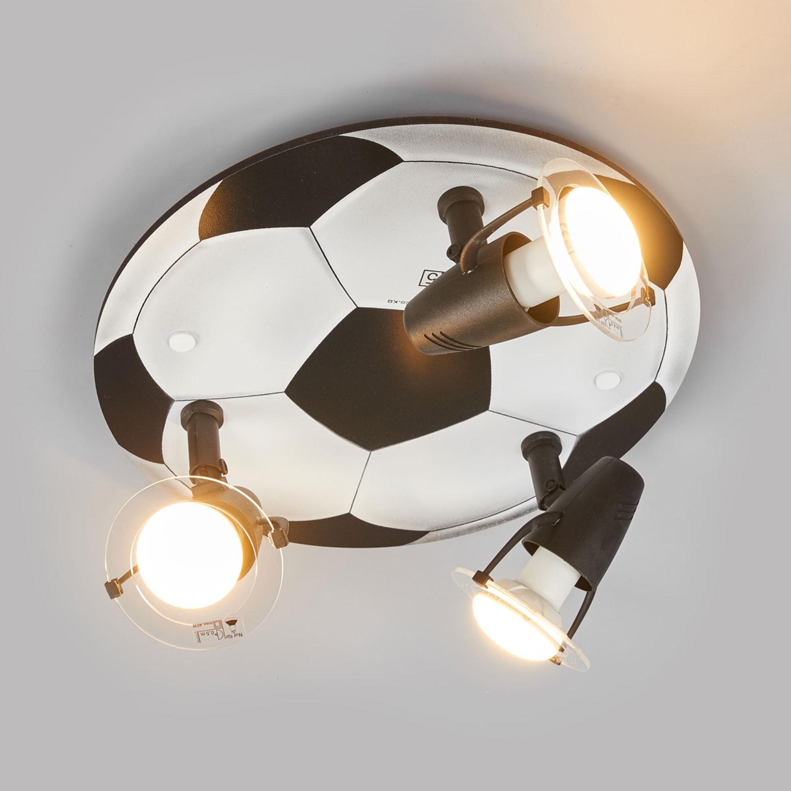 Taklampa FUSSBALL med 3 ljuskällor