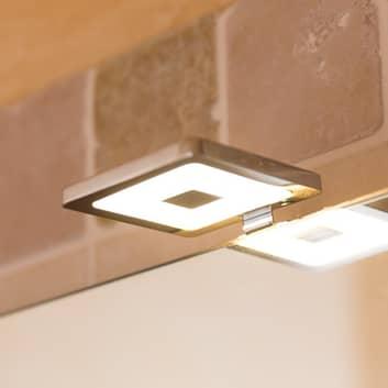 Piazza – kwadratowa lampka do lustra LED