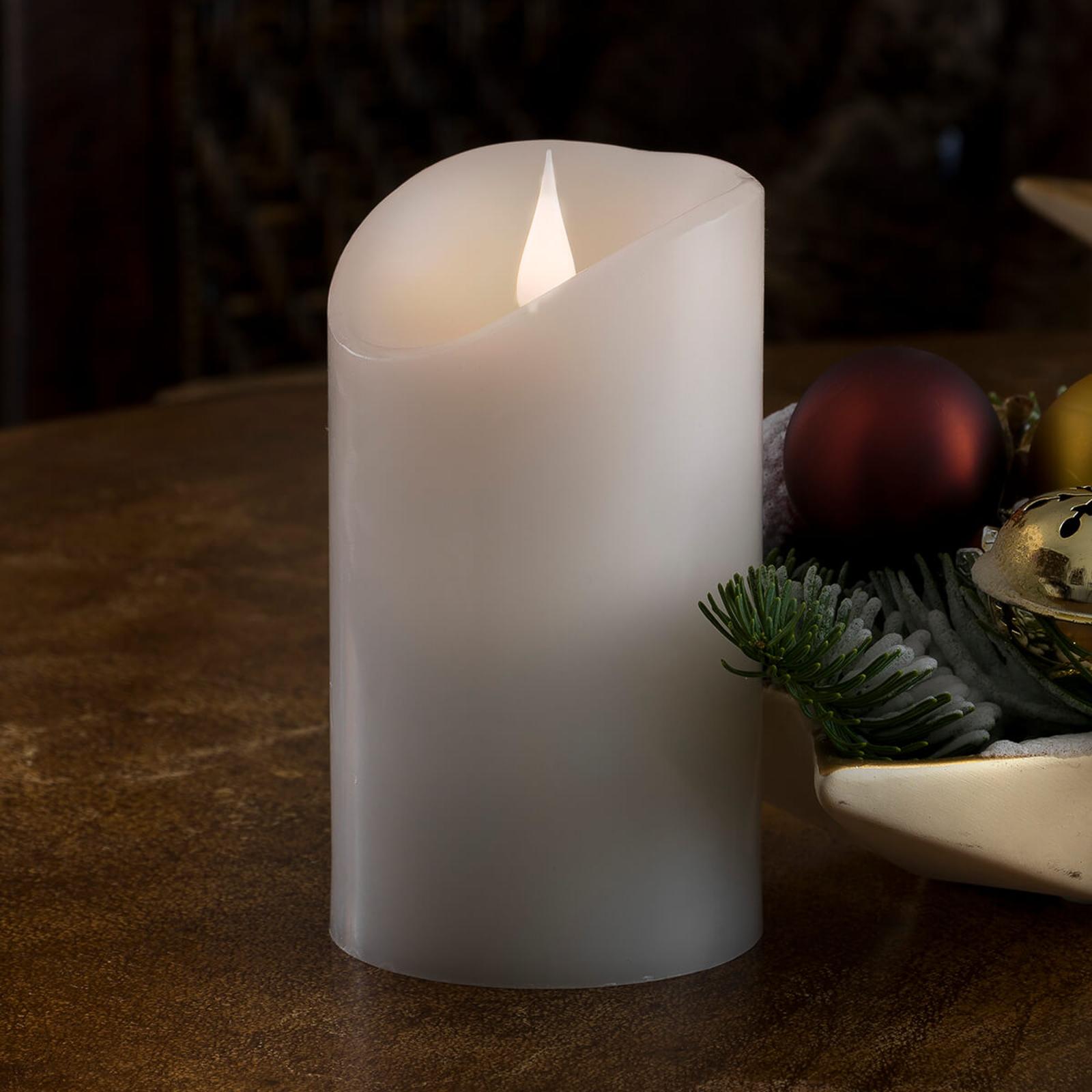 Lebensecht wirkende LED-Kerze Echtwachs 3D-Flamme