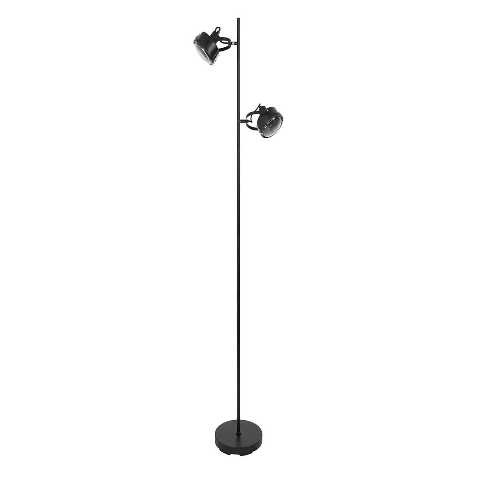 Vloerlamp Satellite in zwart, 2-lamps