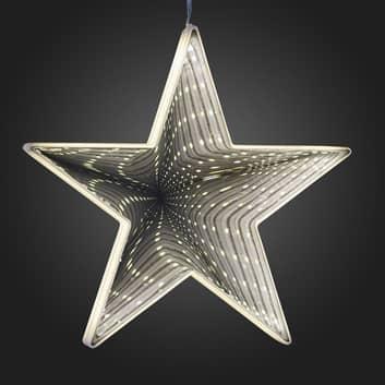 Para colgar - estrella LED con efecto infinito