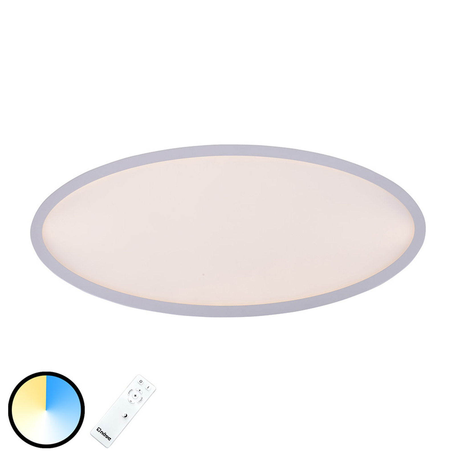 LED plafondlamp Pesaro ovaal 80 cm x 35 cm