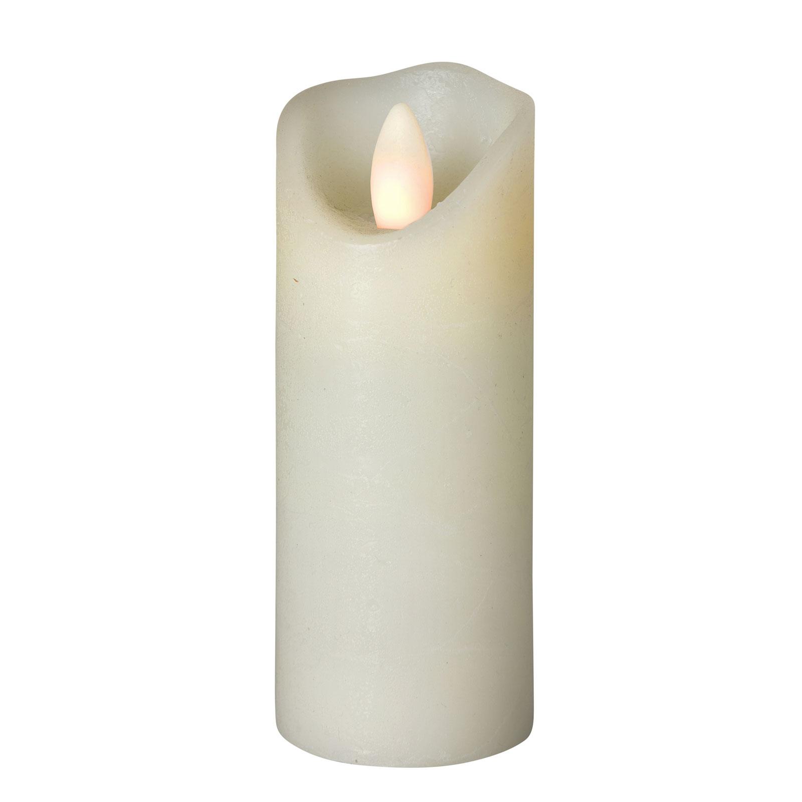 Shine LED-lys, Ø 5 cm, elfenben, højde 15 cm