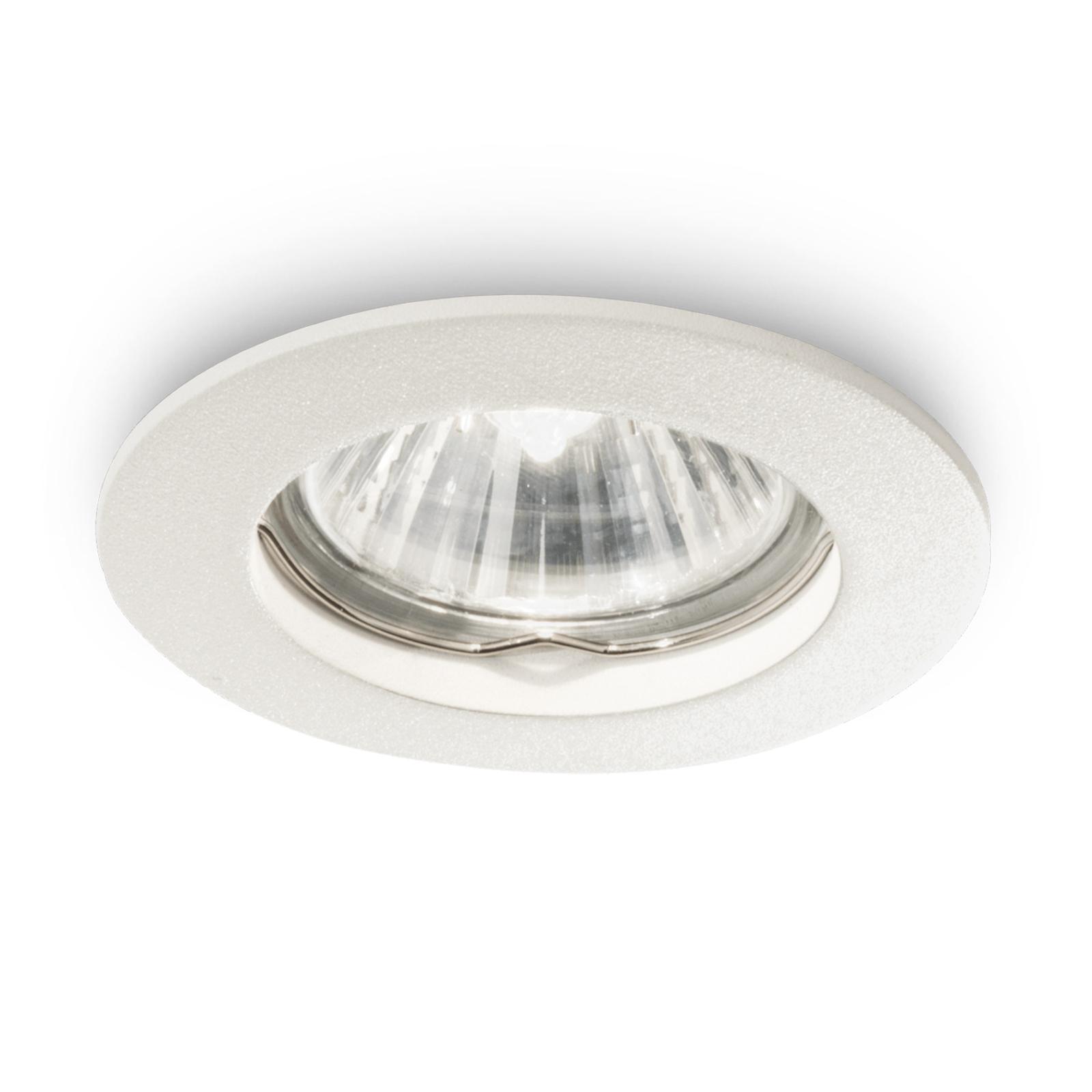 Deckeneinbaulampe Jazz rund, GU10 3er weiß
