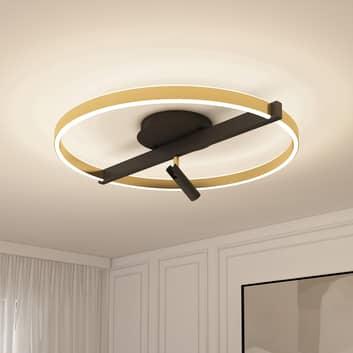 Lucande Matwei LED plafondlamp ringvormig messing