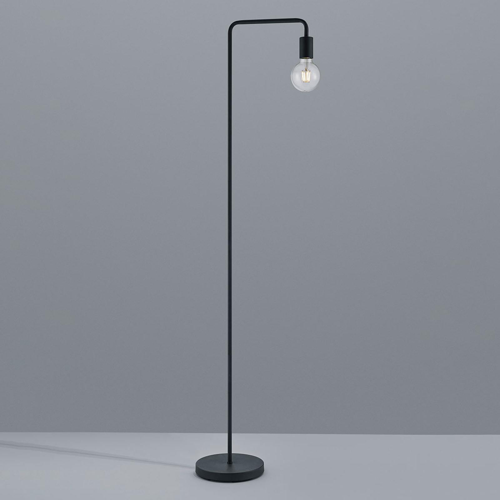 Lampa stojąca Diallo bez klosza, czarny matowy