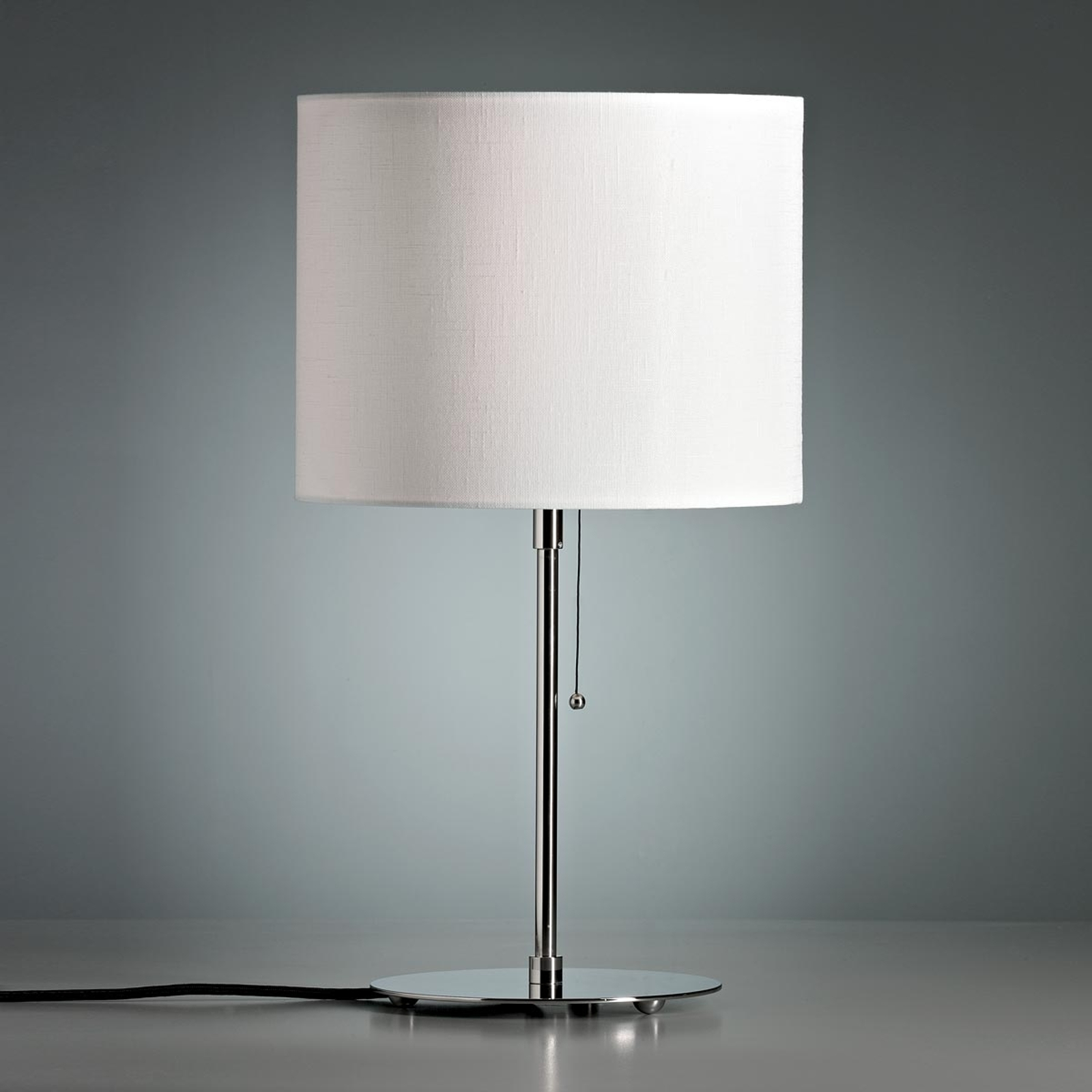 Tafellamp met gekleurde linnen kap, wit