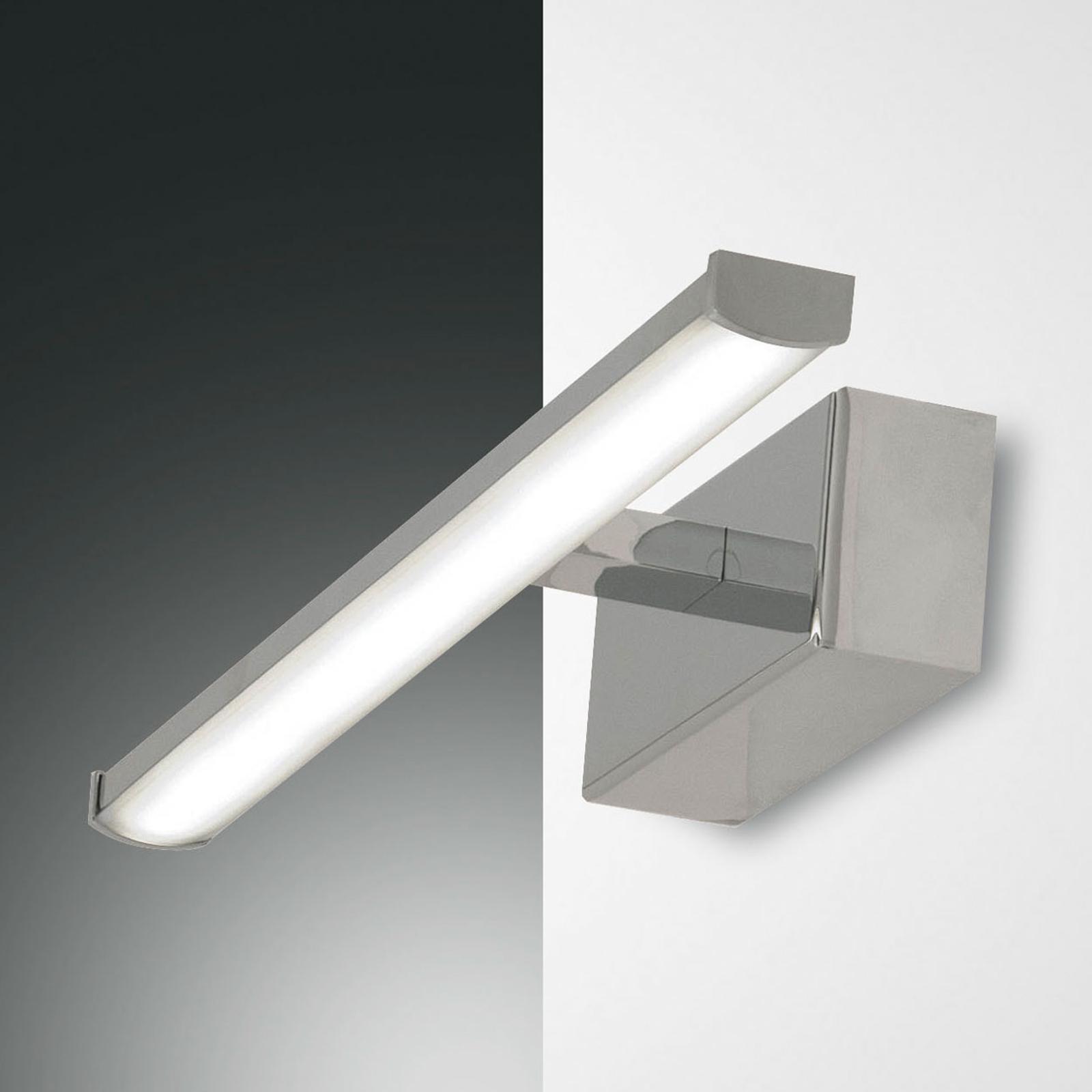 LED-vägglampa Nala, krom, bredd 30 cm
