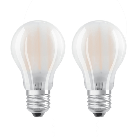 OSRAM bombilla LED E27 7W blanco cálido set de 2
