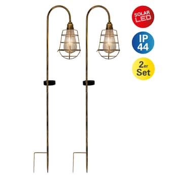 LED-solcellslampa 4129502 i 2-pack
