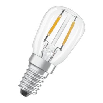 OSRAM LED-pære Special T26 E14 1,6W 2.400K glødet.