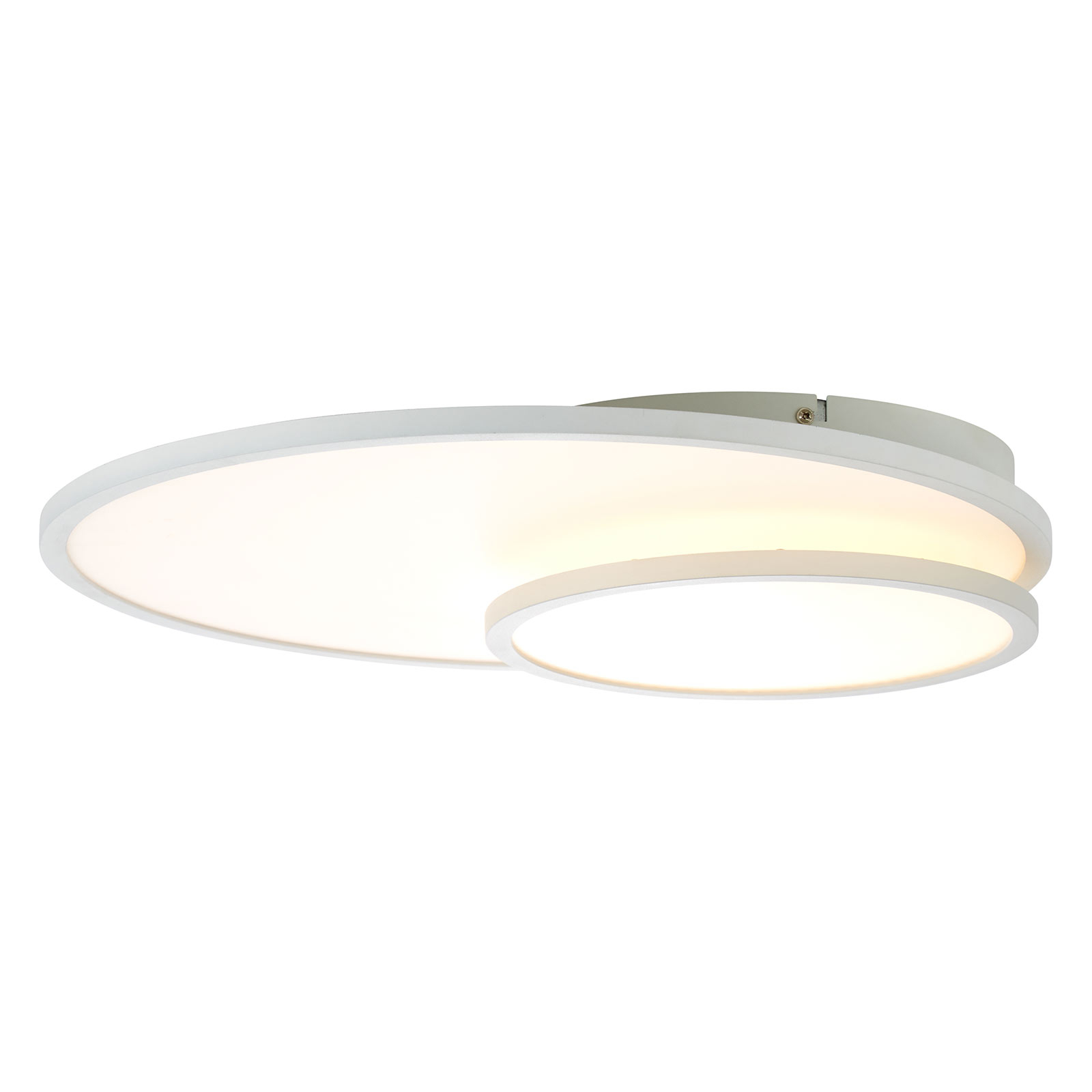 Plafonnier LED Bility, rond, cadre blanc