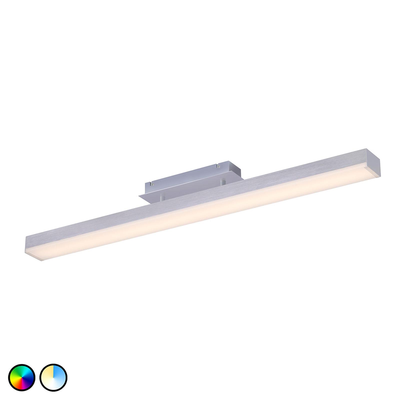 Trio WiZ Livaro plafonnier LED nickel mat