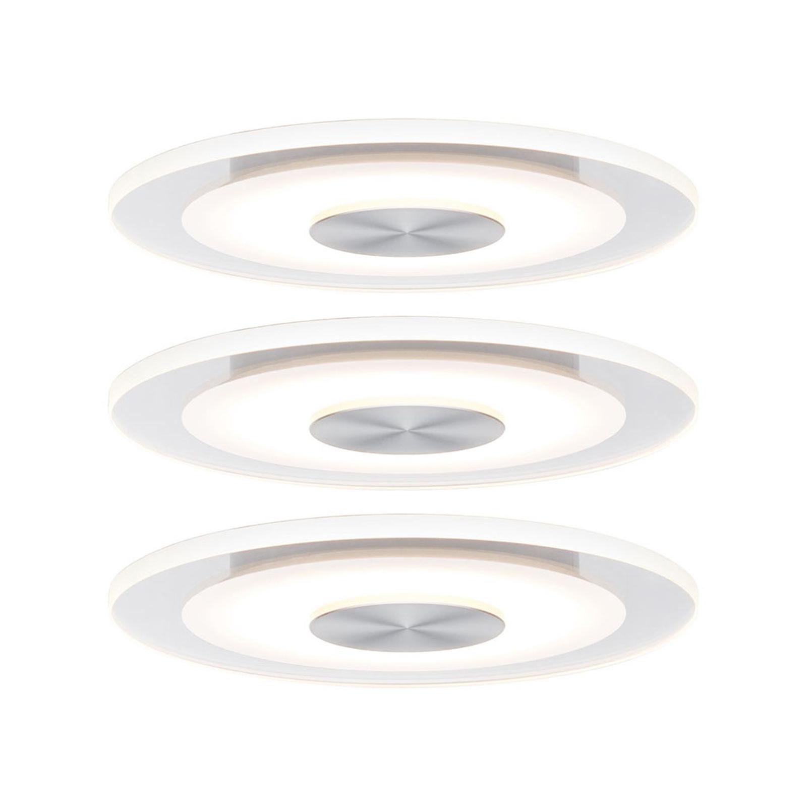 Paulmann Whirl LED-Einbauleuchte, 3er-Set, rund