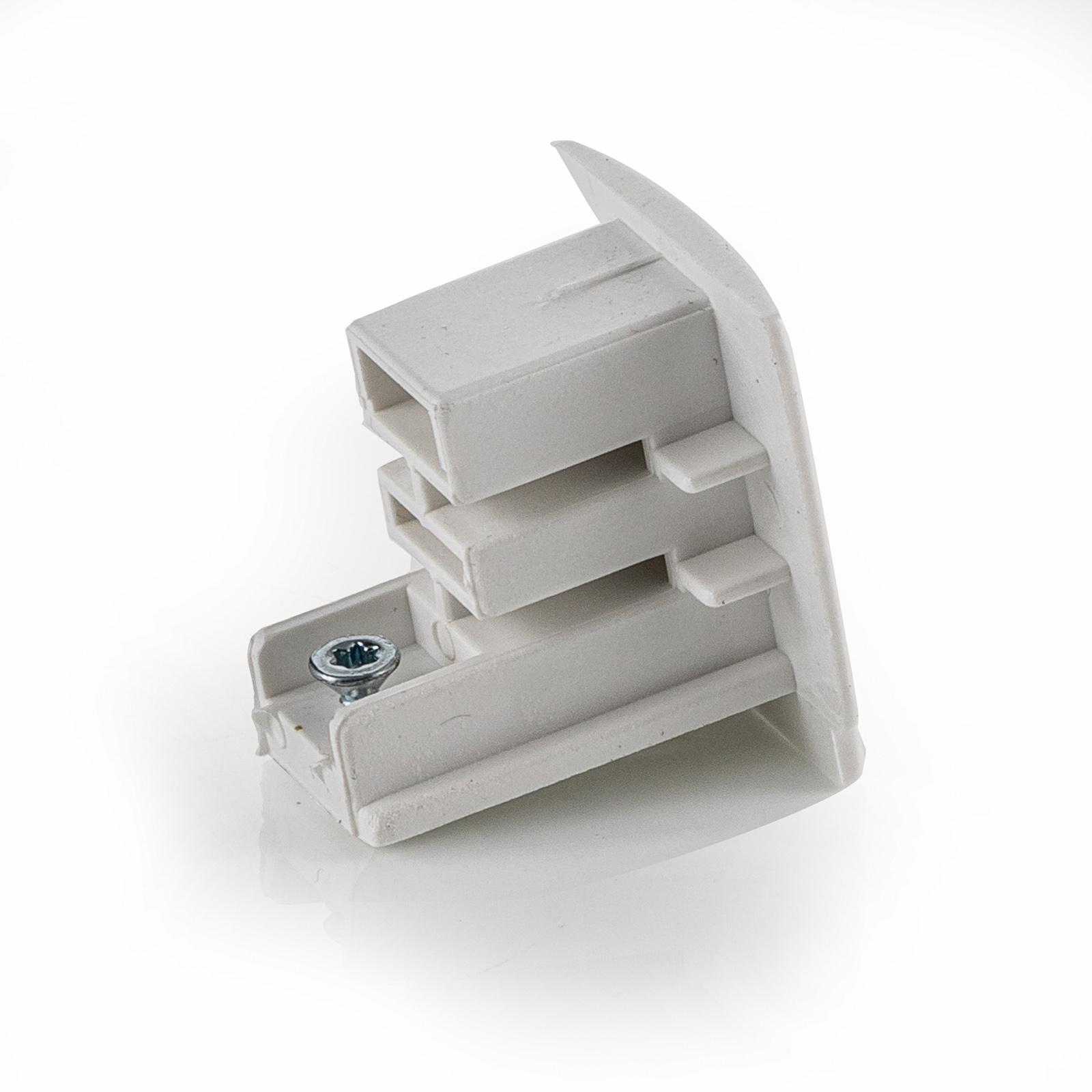 Endkappe für 3-Phasen-Stromschiene Noa, weiß