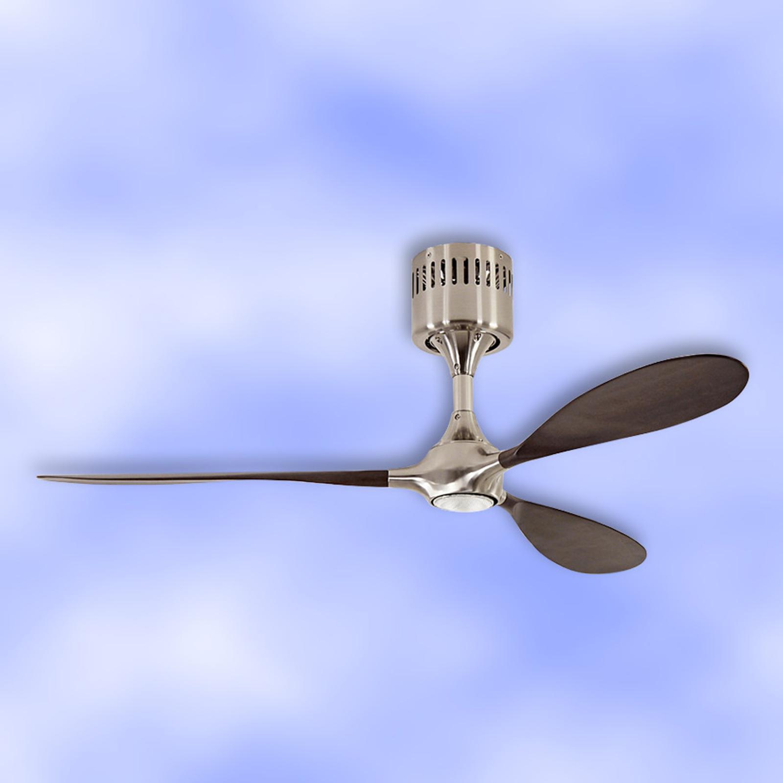 Helico Paddel – wentylator sufitowy, chrom/orzech