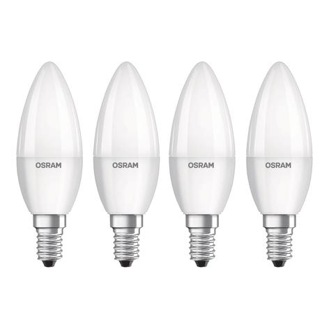 OSRAM LED-Kerze E14 Base Retro 5,7W 4er
