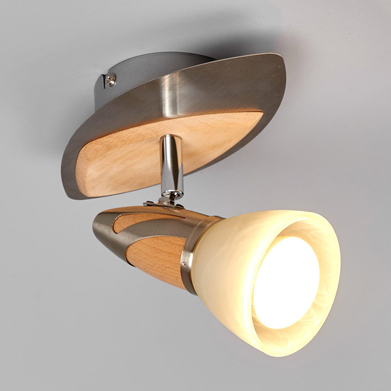 Spoten Marena med träapplikationer, E14 R50 LED