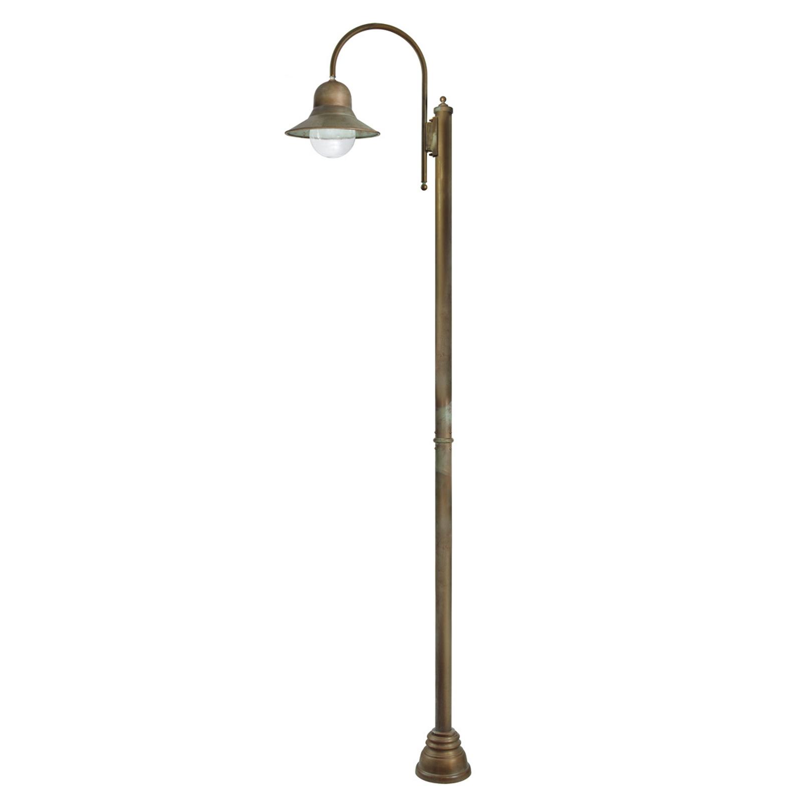 Lampione Felizia alto 270cm in ottone antico