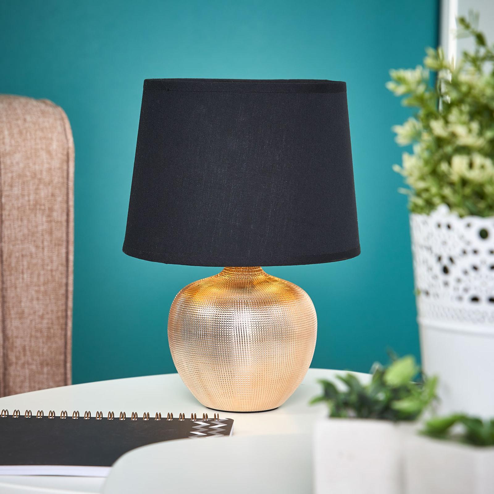 Svartgyllen bordlampe Thorina