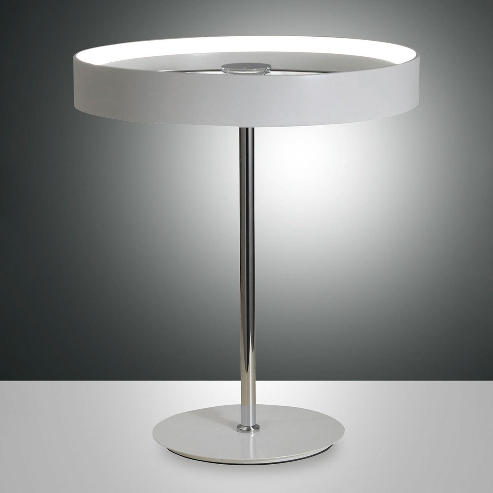 Puristische LED-Tischleuchte Double mit Schalter