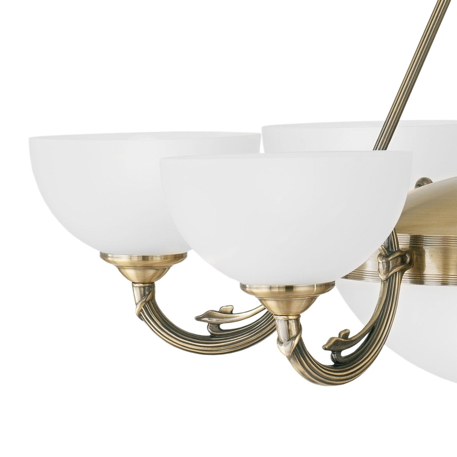 Suspension Savy à huit lampes
