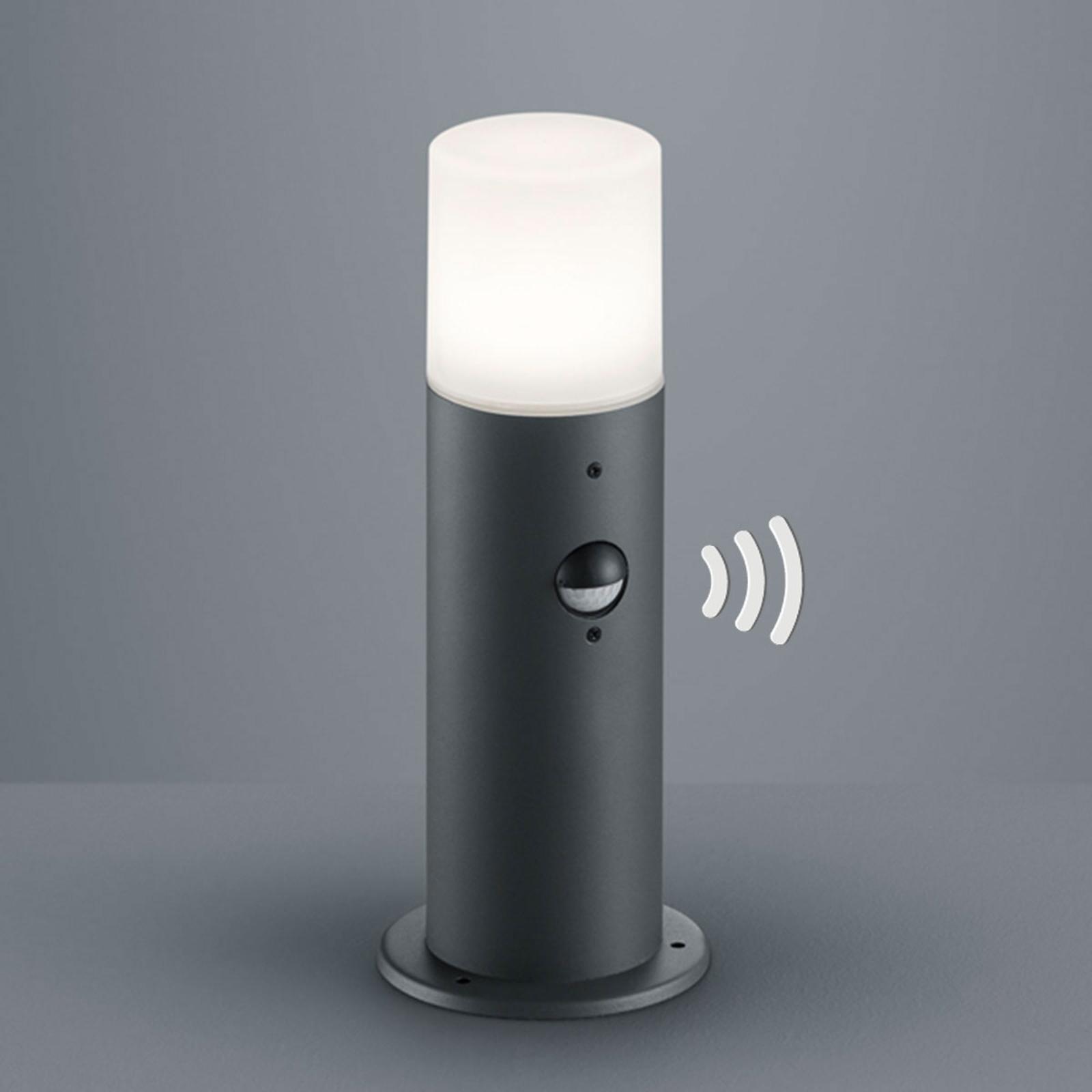 Sockelleuchte Hoosic in Anthrazit mit Sensor