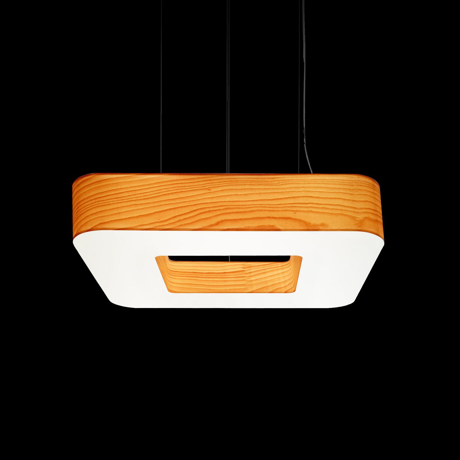 LZF Cuad LED a sospensione 0-10V dim, faggio