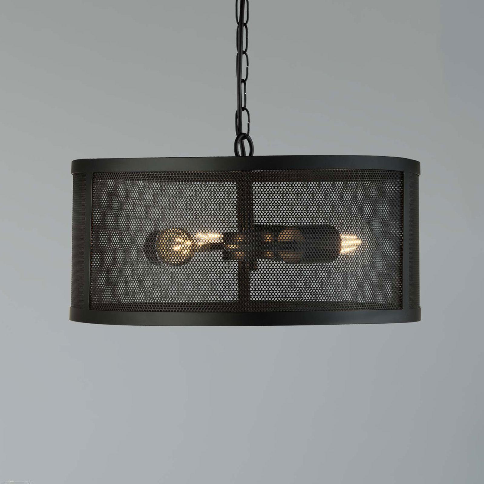 Lampa wisząca Fishnet z metalu czarna Ø 45 cm