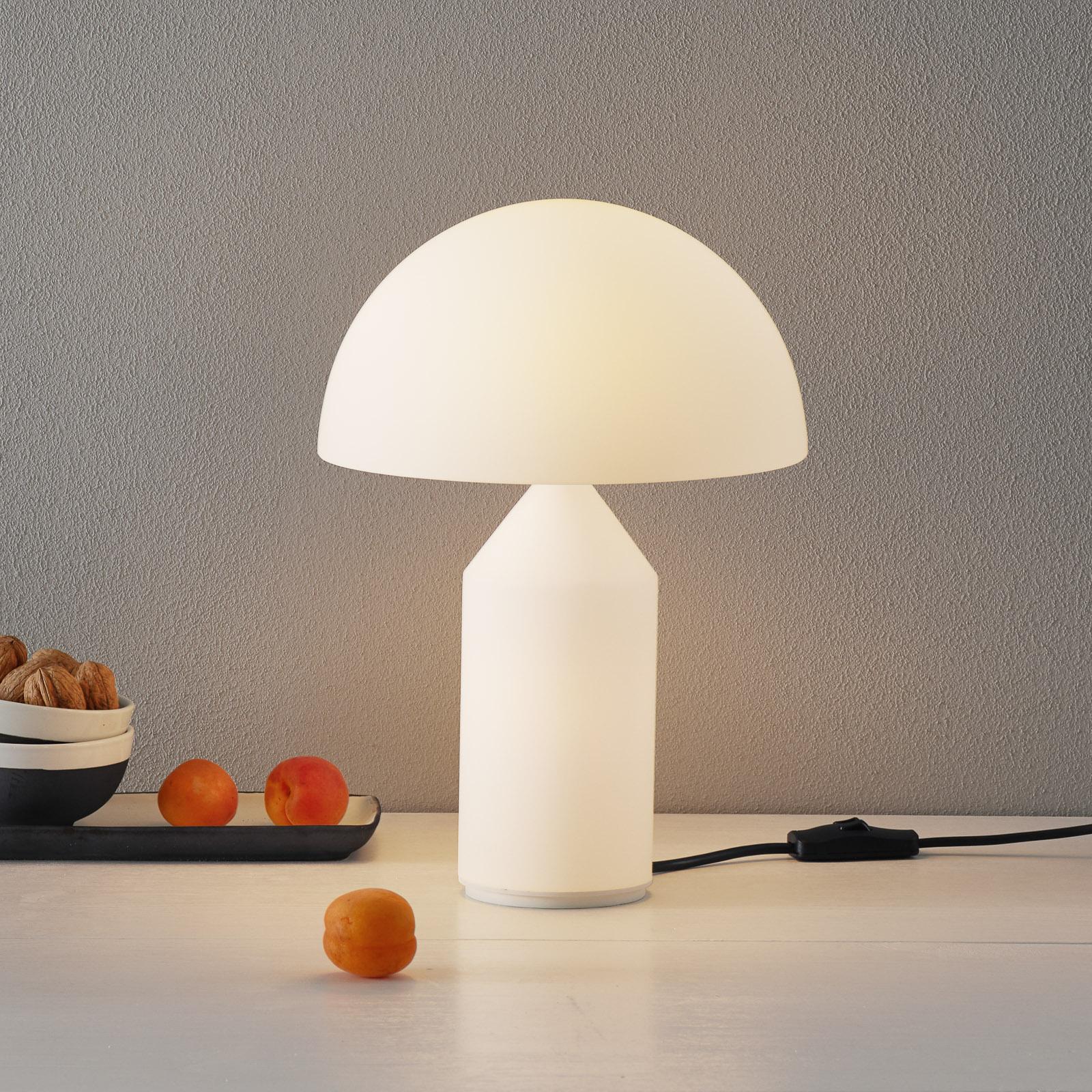 Oluce Atollo - lampada da tavolo vetro Murano 35cm