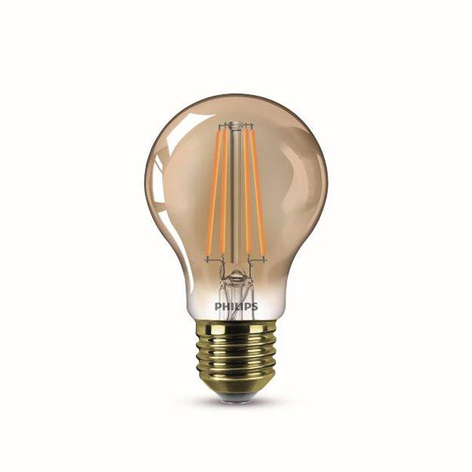 E27 7,5W LED-Lampe Filament, warmweiß, gold